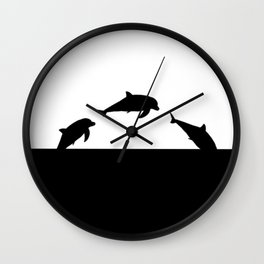 Dolfin Jumps Wall Clock