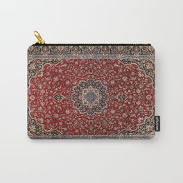 N63 - Red Heritage Oriental Traditional Moroccan Style Artwork Carry-All Pouch