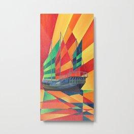Sail Away Junk Pleasure Boat Metal Print