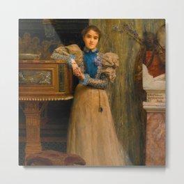 "Sir Lawrence Alma-Tadema ""Portrait of Clothilde Enid"" Metal Print"