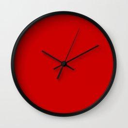 Bright red Wall Clock