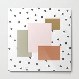 dots and squares Metal Print