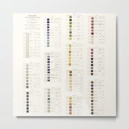 Werner's nomenclature of colour Version II Metal Print