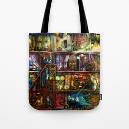 The Fantastic Voyage - a Steampunk Book Shelf Tote Bag