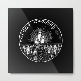 Forest camping Metal Print
