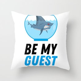 Funny Fish Saying For All Aquarists Throw Pillow