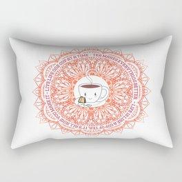 Cute Tea Lover Mandala with Tea Quotes Rectangular Pillow