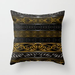 Floral ornaments Throw Pillow