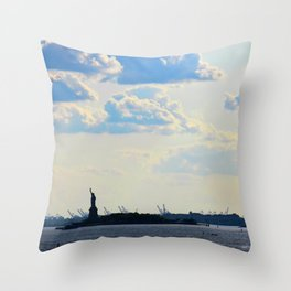 Silhouette Lady Throw Pillow