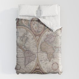 Vintage Map World Comforters