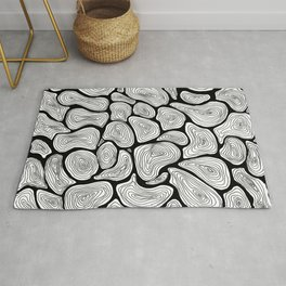 Circlink | The abstract ink forest Rug