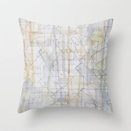 Scaffolding And Boards Throw Pillow
