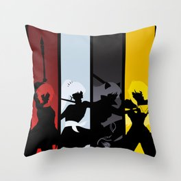 Silhouetted Huntresses Throw Pillow