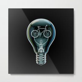 Dark Bicycle Bulb Metal Print