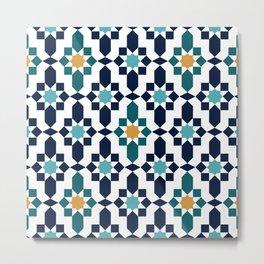 Moroccan style pattern Metal Print