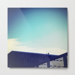 Men On Roof Metal Print