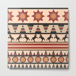 American Indians style repeating pattern Metal Print