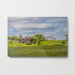 Jumbled Abandoned Farm, Burleigh County, North Dakota 1 Metal Print