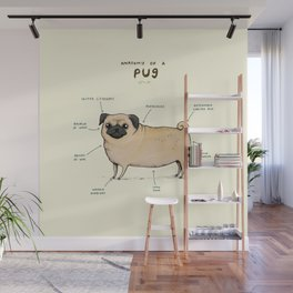 Anatomy of a Pug Wall Mural