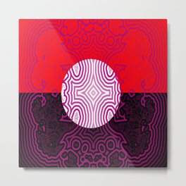 Red, white, black - and lilac ... Metal Print