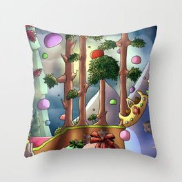 Slime rain- Digital Throw Pillow