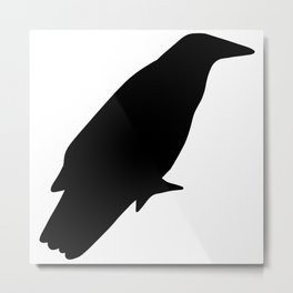 Autmn Crow Fall Design Metal Print