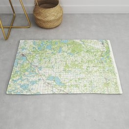 MN Detroit Lakes 508774 1986 topographic map Rug