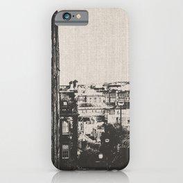 Edinburgh Scotland Blackn and White iPhone Case