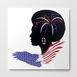 Black Queen Independence Celebration Metal Print