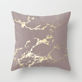 Kintsugi Ceramic Gold on Red Earth Throw Pillow