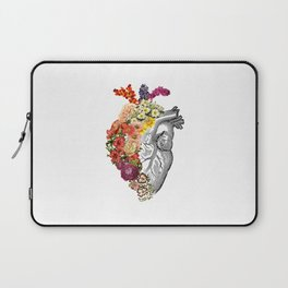 Flower Heart Spring White Laptop Sleeve