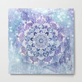 FREE YOUR MIND in Blue Metal Print