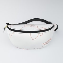 Adventure Map in Rose Gold Fanny Pack