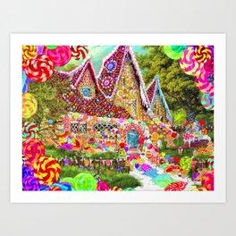 The Gingerbread House Art Print