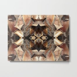 abstract wood texture Metal Print