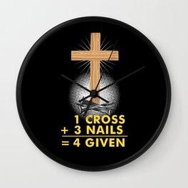 Funny Christian Jesus Forgiven Religion Gift Wall Clock