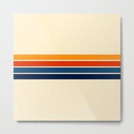 Classic Retro Stripes Metal Print
