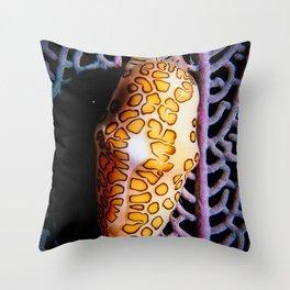 Flamingo Tongue on a Sea-fan Throw Pillow