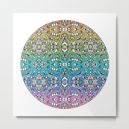 lovely lumps - rainbow abstract pattern Metal Print