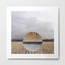 Midwest Autumn Horizon - Flip Metal Print