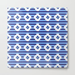optical pattern 73 square and rhombus Metal Print