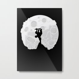 Skater Moon Metal Print