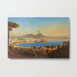 The Bay of Naples, Italy by Gustav Zick Metal Print
