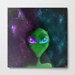 Eyes of the Alien Metal Print