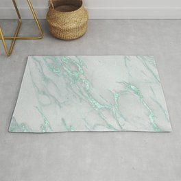 Marble Love Mint Metallic Rug