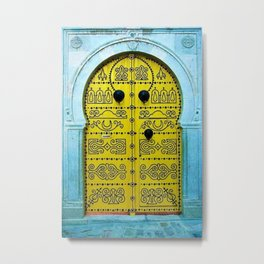 Ornate Tunisian Doorway Metal Print