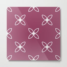 Seamless Geometric White Abstract Pattern Metal Print