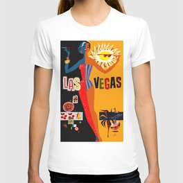 Vintage Las Vegas Travel Poster T-shirt