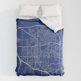 Denton Map, USA - Blue Comforters