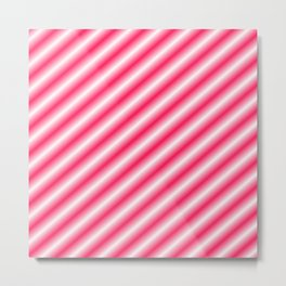 RED-WHITE CHRISTMAS CANDY PATTERN  Metal Print